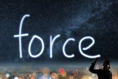 Concepto de fuerza Fotografía de archivo libre de regalías