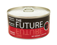 Concepto de futuro. Lata. Foto de archivo