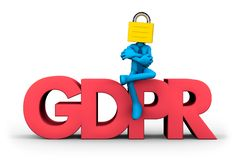 Concepto de GDPR stock de ilustración