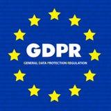Concepto de GDPR Regulación general de la protección de datos Nueva ley de la UE a partir de 2018 ilustración del vector