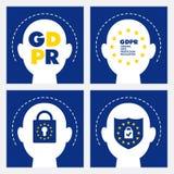 Concepto de GDPR Regulación general de la protección de datos Nueva ley de la UE a partir de 2018 Imágenes de archivo libres de regalías