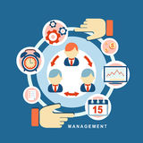 Concepto de gestión de negocio Fotografía de archivo