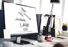 Concepto de Governance Legal Judge del abogado de la ley imagen de archivo libre de regalías