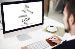Concepto de Governance Legal Judge del abogado de la ley fotografía de archivo libre de regalías