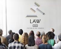 Concepto de Governance Legal Judge del abogado de la ley fotos de archivo
