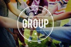 Concepto de Group Gang Unity Community Band Company Fotos de archivo