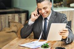 Concepto de Growth Motivation Target Vision del hombre de negocios Imagenes de archivo