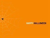 Concepto de Halloween del vector con el spider& x27; web y letras de s Imagen de archivo libre de regalías