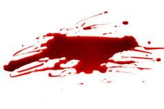 Concepto de Halloween: Salpicadura de la sangre en el fondo blanco imagen de archivo libre de regalías