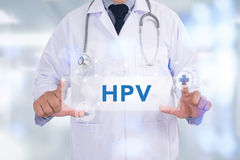 CONCEPTO DE HPV fotografía de archivo