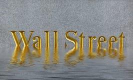 Concepto de hundimiento Wall Street en Manhattan céntrica Foto de archivo libre de regalías
