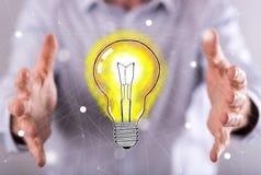 Concepto de idea innovadora Imágenes de archivo libres de regalías