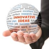 Concepto de ideas innovadoras en negocio Fotos de archivo
