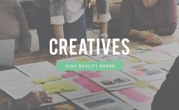 Concepto de Ideas Occupation Expertise del diseñador de Creatives Imagen de archivo