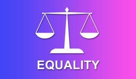 Concepto de igualdad libre illustration
