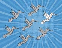 Concepto de individualidad, estrategia de la dirección Empapele el pájaro stock de ilustración