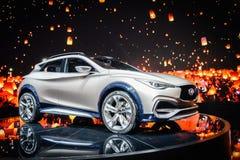 Concepto de Infiniti QX30, salón del automóvil Geneve 2015 imagen de archivo libre de regalías