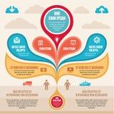 Concepto de Infographic - esquema del vector Fotografía de archivo