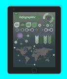 Concepto de Infographics en un Tablet PC negro libre illustration
