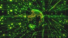 Concepto de informática de Internet de las cosas IOT y de intercambio de datos grande usando la mudanza del AI de la inteligencia ilustración del vector