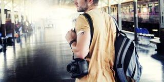 Concepto de Inspiration Journey Style del fotógrafo de la cámara Imagen de archivo libre de regalías