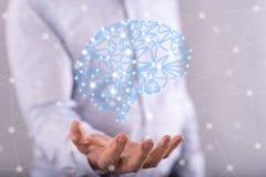 Concepto de inteligencia artificial imagenes de archivo