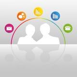 Concepto de interacciones sociales de la gente Imagenes de archivo