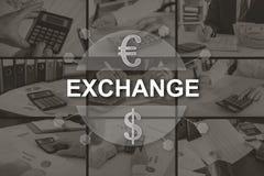 Concepto de intercambio fotografía de archivo