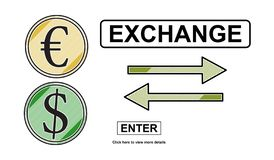 Concepto de intercambio stock de ilustración