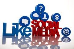 Concepto de Internet con medios sociales fotos de archivo libres de regalías