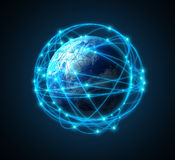 Concepto de Internet de Illustartion Imagen de archivo