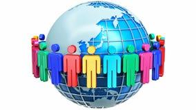 Concepto de Internet de la comunicación global stock de ilustración