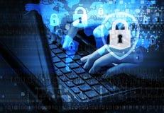 Concepto de Internet de la seguridad Fotos de archivo