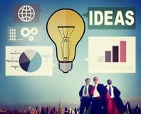 Concepto de Internet de los pensamientos de la inspiración del gráfico de la creatividad de las ideas fotos de archivo libres de regalías