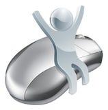 Concepto de Internet del hombre del ratón del ordenador Foto de archivo