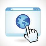 Concepto de Internet del vector Imagen de archivo libre de regalías