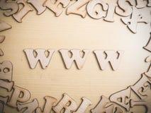 Concepto de Internet del World Wide Web del WWW fotografía de archivo