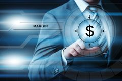 Concepto de Internet de la tecnología del negocio de las finanzas de los ingresos del margen foto de archivo libre de regalías