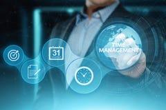 Concepto de Internet de la tecnología del negocio de las metas de la estrategia de la eficacia del proyecto de la gestión de tiem foto de archivo libre de regalías