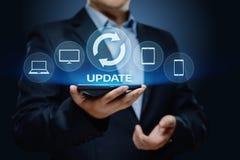 Concepto de Internet de la tecnología del negocio de la mejora del programa de computadora del software de la actualización foto de archivo