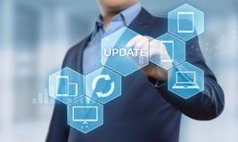 Concepto de Internet de la tecnología del negocio de la mejora del programa de computadora del software de la actualización fotografía de archivo