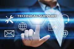 Concepto de Internet de la tecnología del negocio de servicio de atención al cliente del soporte técnico imagen de archivo