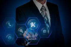 Concepto de Internet de la tecnolog?a del negocio de servicio de atenci?n al cliente del soporte t?cnico foto de archivo libre de regalías