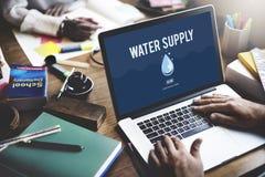 Concepto de irrigación de la planta de la irrigación de la naturaleza del abastecimiento de agua Fotos de archivo libres de regalías