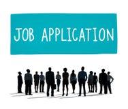 Concepto de Job Application Career Hiring Employment Foto de archivo libre de regalías