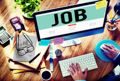 Concepto de Job Profession Hiring Occupation Employment Fotografía de archivo
