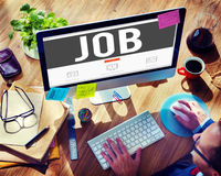Concepto de Job Profession Hiring Occupation Employment Imagen de archivo libre de regalías