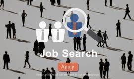 Concepto de Job Search Application Career Work Fotografía de archivo