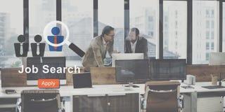 Concepto de Job Search Application Career Work Imagenes de archivo