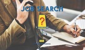 Concepto de Job Search Career Plan Occupation Fotografía de archivo